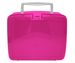 Cerise pink lunch box