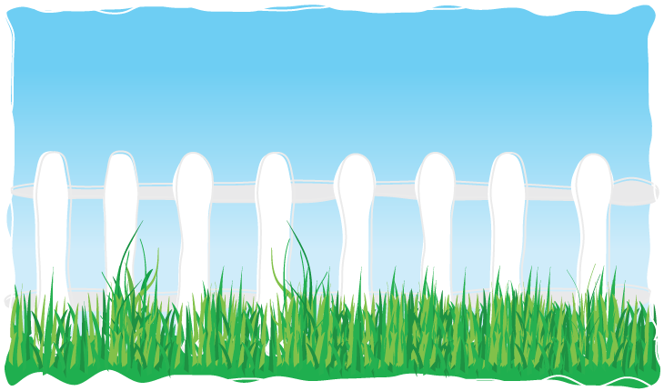 School lunch box background fence