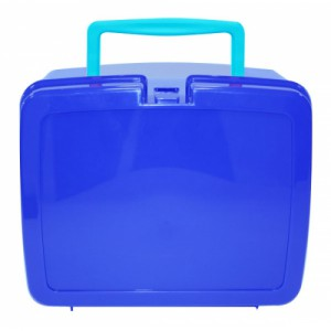 Baltic Blue School Lunch box with Sky Blue Handle | School Lunch Boxes | Amey Online