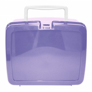 Lilac School Lunch Box with White Handle | School Lunch Boxes | Amey Online