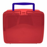 Red Lunch Box with Navy Handle | School Lunch Boxes | Amey Online