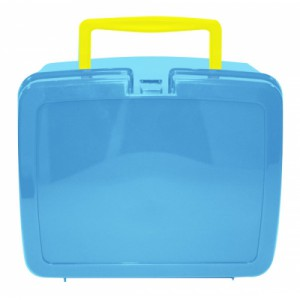 Sky Blue School Lunch Box with Yellow Handle | School Lunch Boxes | Amey Online